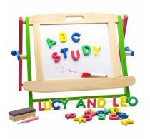 Set educativ din lemn Set preșcolară cu tablă și magnet Lucy&Leo LL134
