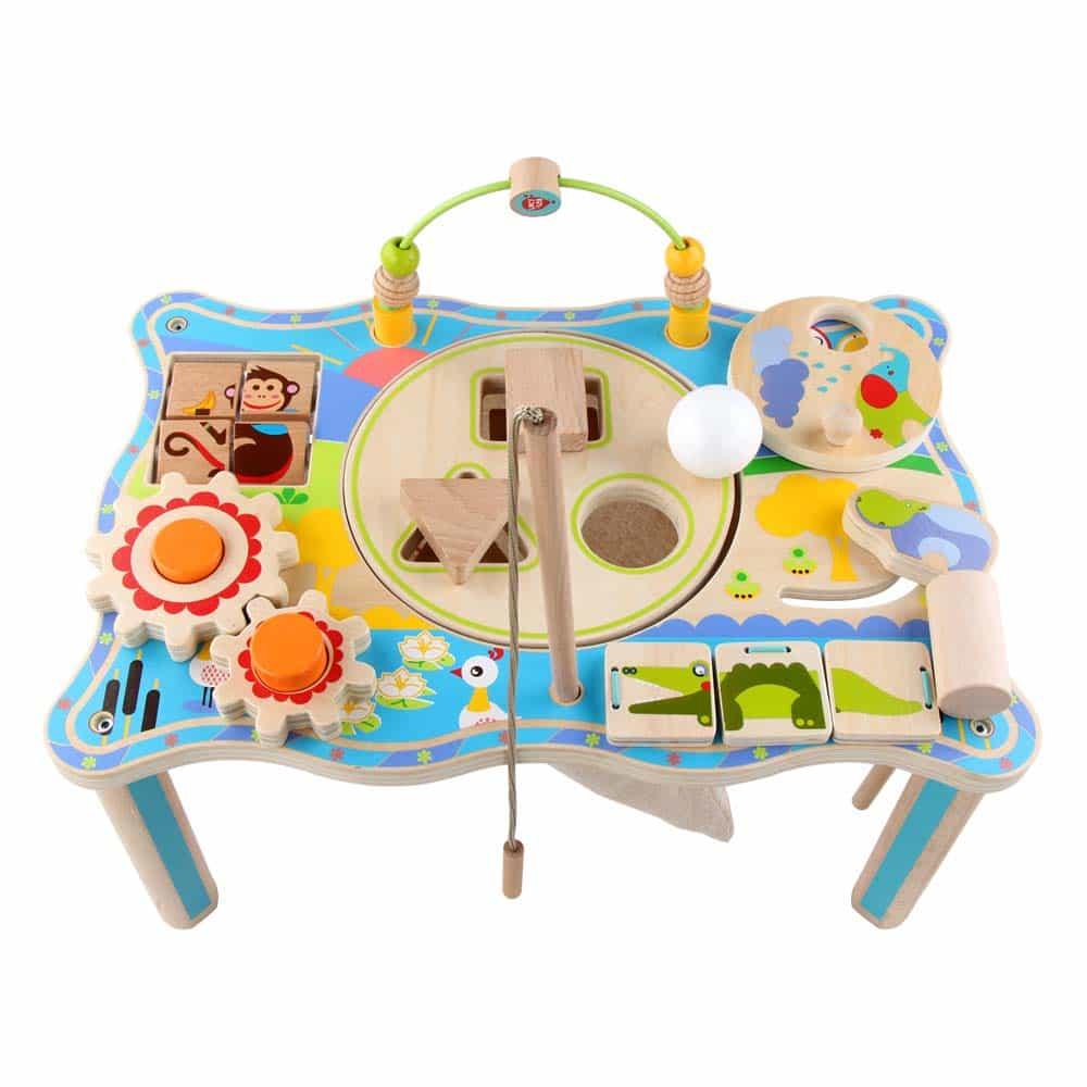 Jucărie din lemn Măsuță educativă pentru copii Lucy&Leo LL196