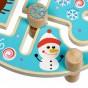 Jucărie din lemn labirint cu animale Sărbători de iarnă Lucy&Leo LL199