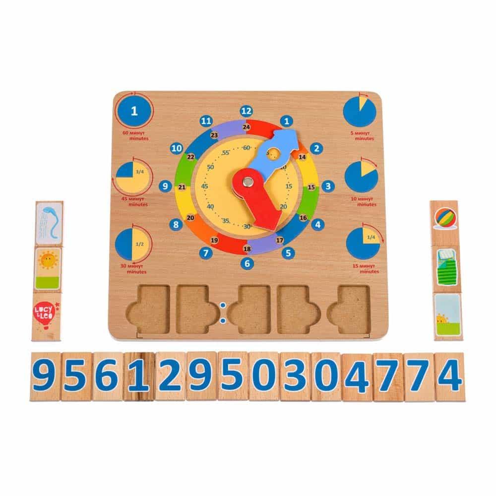 Jucărie din lemn Ceas jucărie educativă pentru copii Lucy&Leo LL184