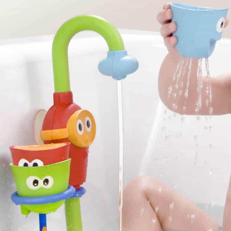 Jucărie de baie robinet pivotant cu ceșcuțe colorate Yookidoo 40116