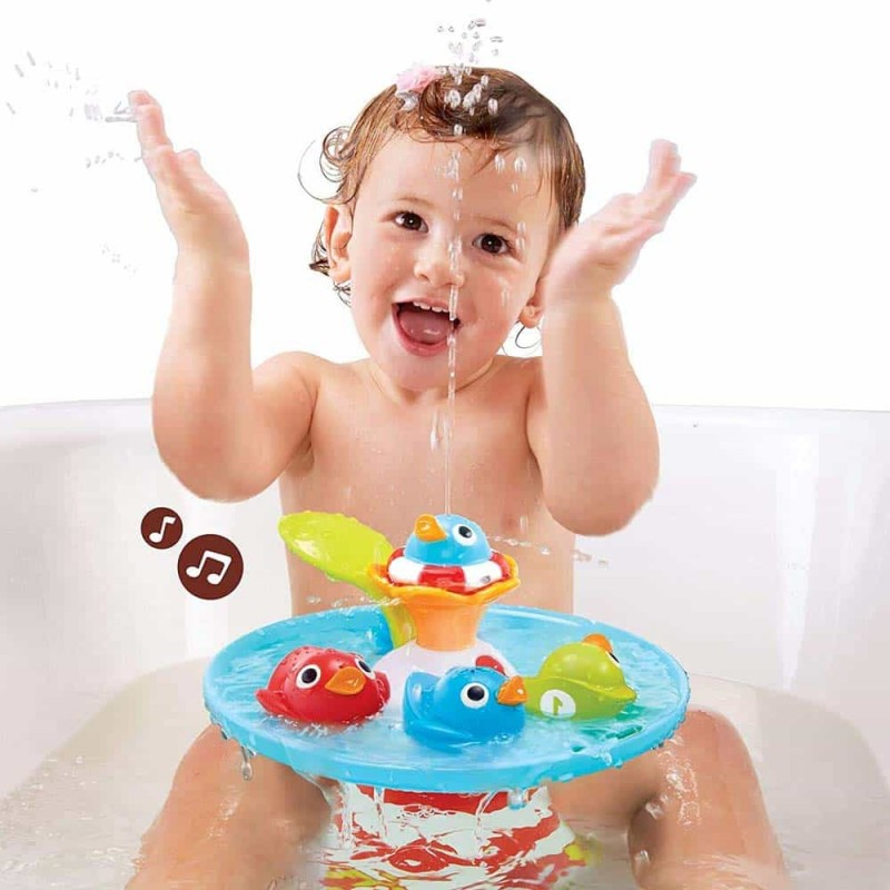 Jucărie de baie fântâna concursul rățuștelor muzicale Yookidoo 40138