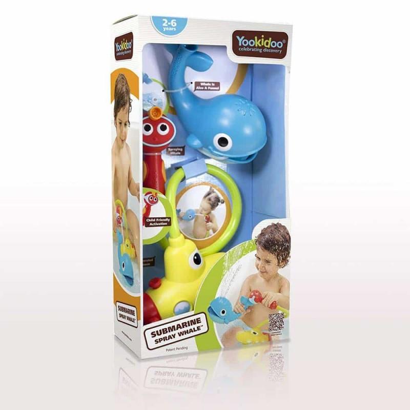 Jucărie de baie Duș submarin cu balenă Yookidoo 40142 pentru copii