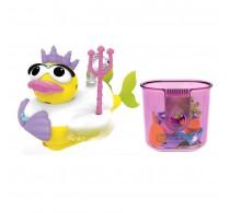 Jucărie de baie Rață sirenă cu motor și 15 accesorii Yookidoo 40171