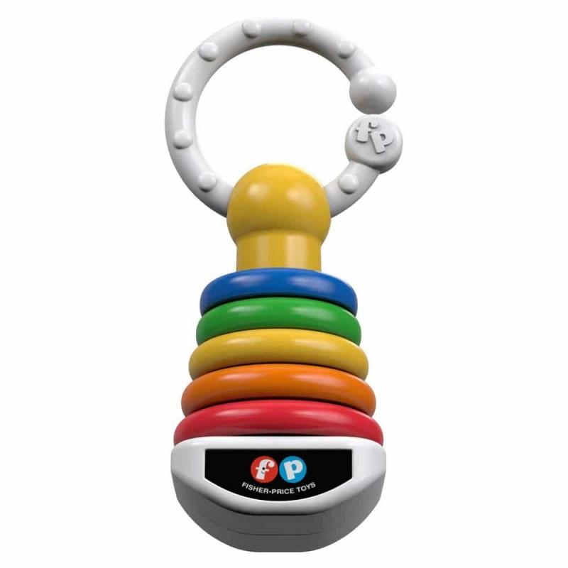 Fisher-Price Jucărie zornăitoare Piramida Click-Clack DFR09 Mattel