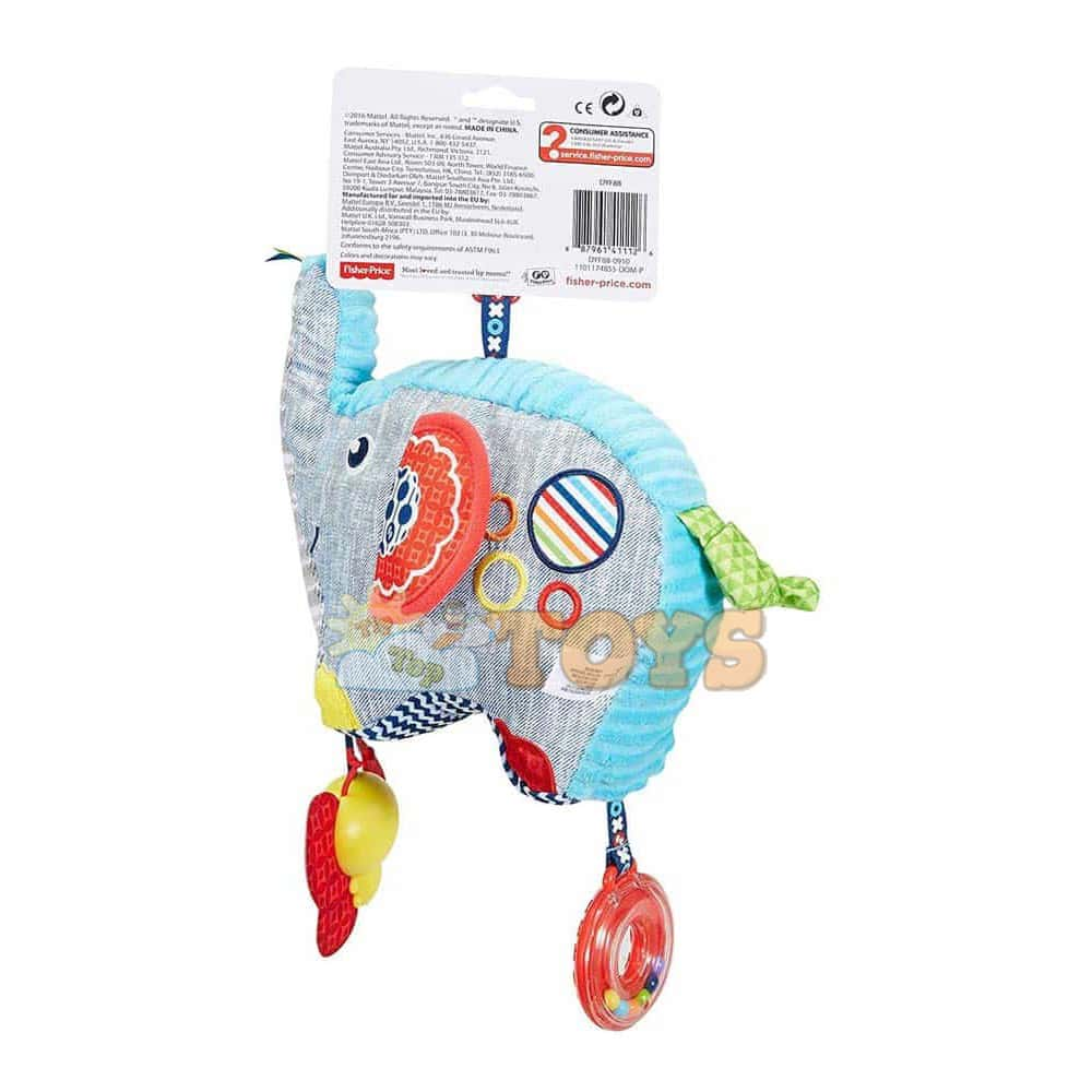 Fisher-Price Jucărie pluș Elefant cu activități DYF88 Elefant jucărie Mattel