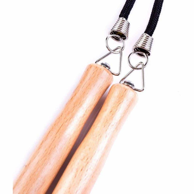 Spokey Coardă de sărit cu mâner din lemn și lungime sfoară 280cm