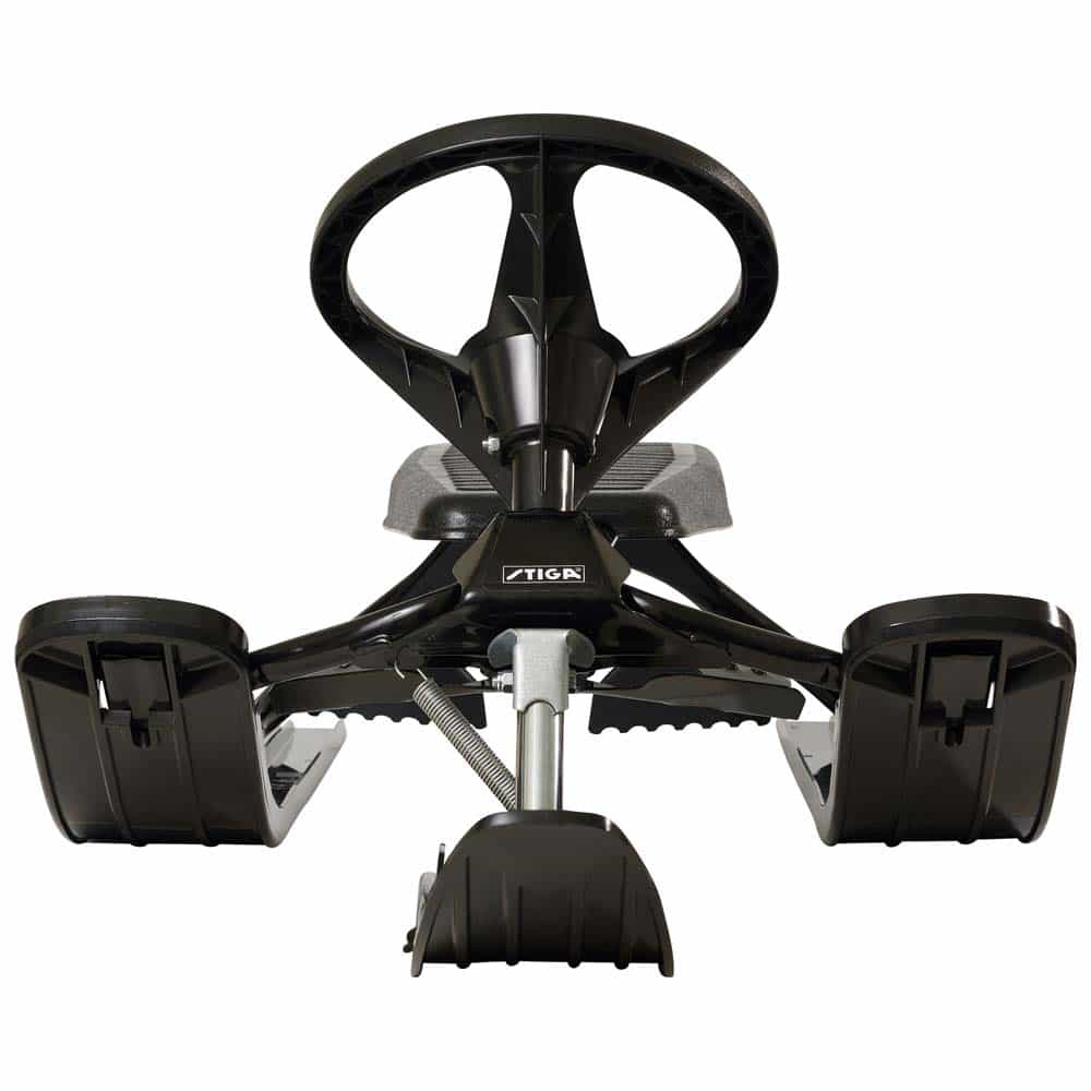 Sanie sportivă cu volan STIGA SnowRacer Classic Black negru