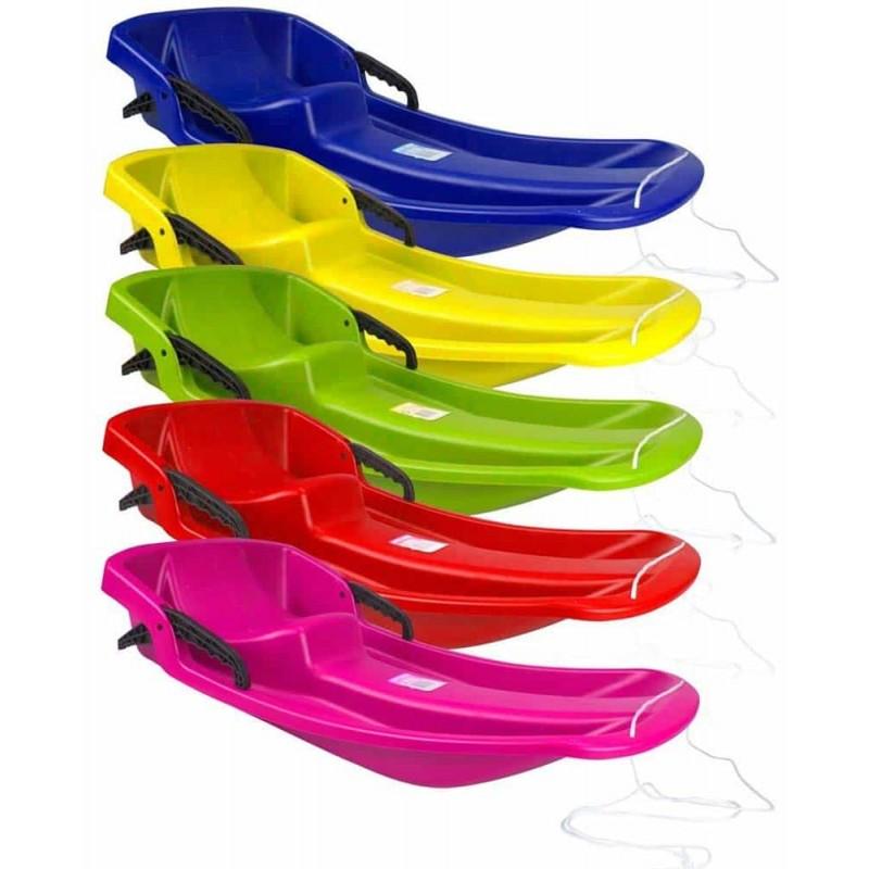 Nijdam Jive bob Sanie din plastic cu frână pentru copii roșu 0292 ROO
