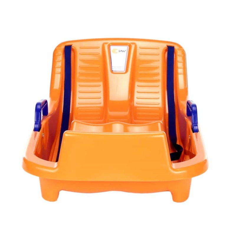 KHW Mini bob Sanie din plastic cu frână pentru copii portocaliu 23005