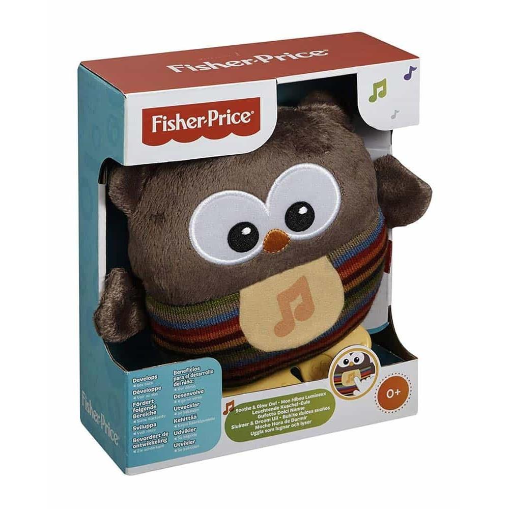 Fisher-Price Jucărie muzicală din pluș Bufniță CDN55 Lampă de noapte