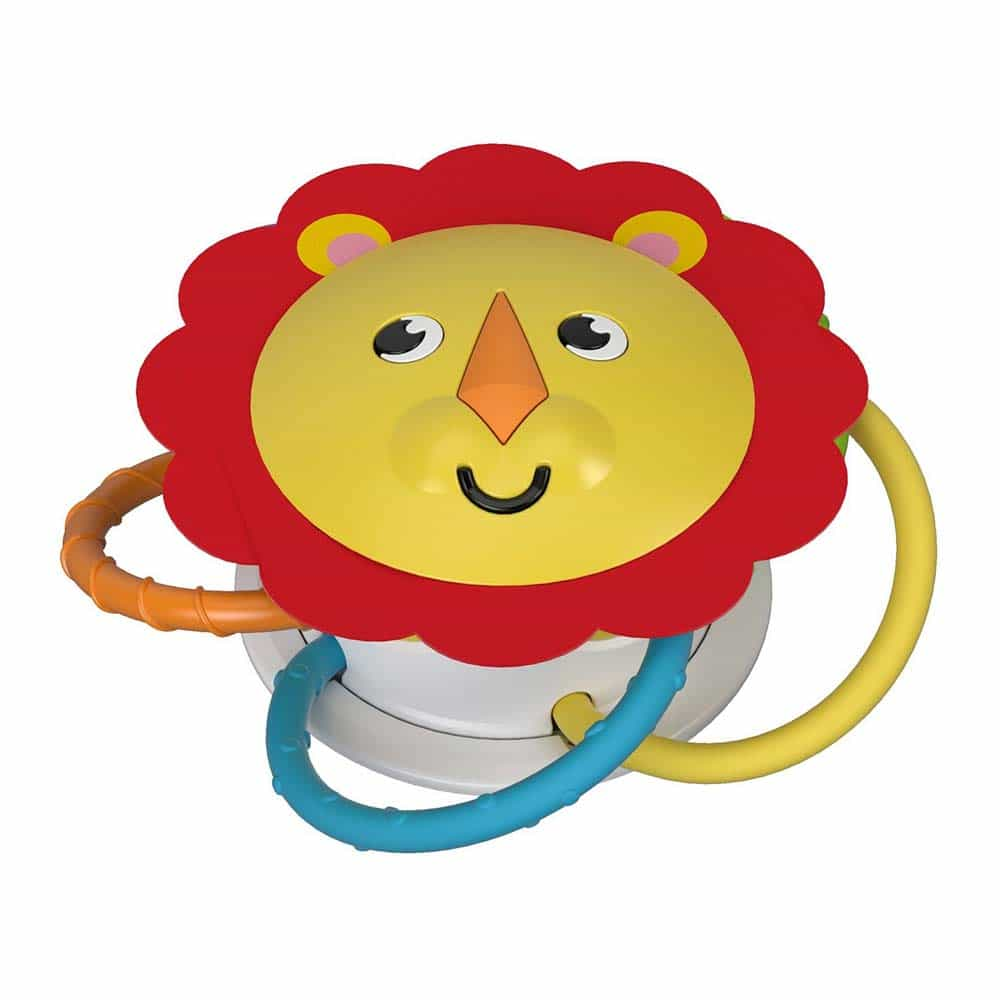 Fisher-Price Jucărie zornăitoare Leu cu sunete și magnet FVF43 - Mattel