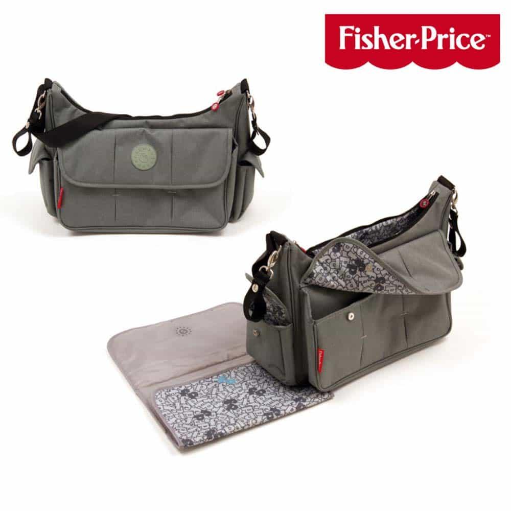 Fisher-Price Geantă de înfășat și voiaj multifuncțională gri