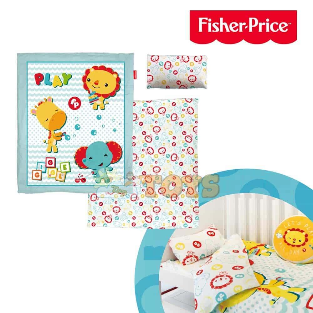 Fisher-Price Set lenjerie Grădina zoologică FP10043 pentru copii