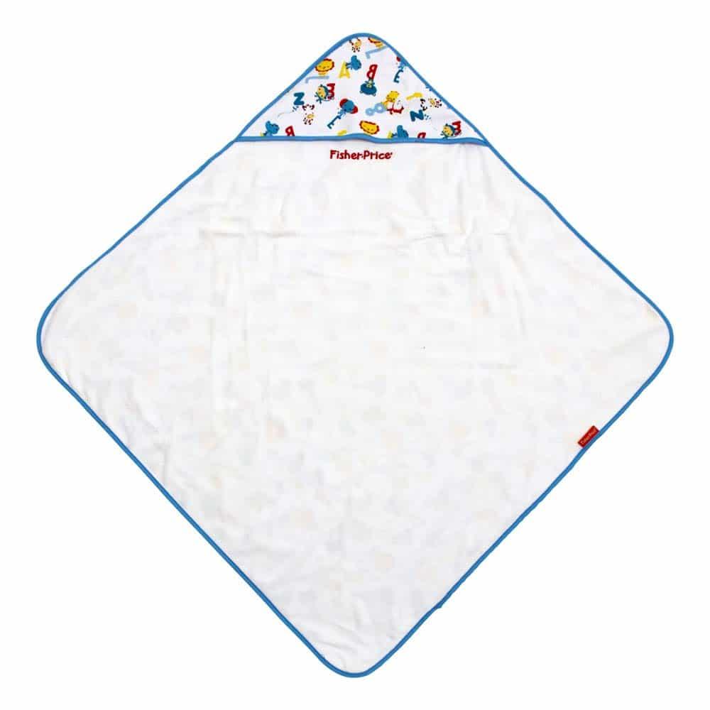 Fisher-Price Prosop de bai cu capișon 75x75 cm  pentru copii FP10050