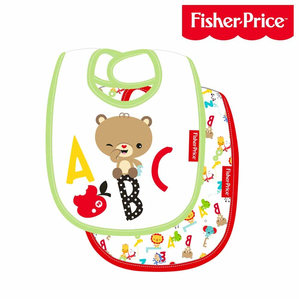 Fisher-Price Babețică pentru bebe set 2 bucăți FP10057 100% bumbac