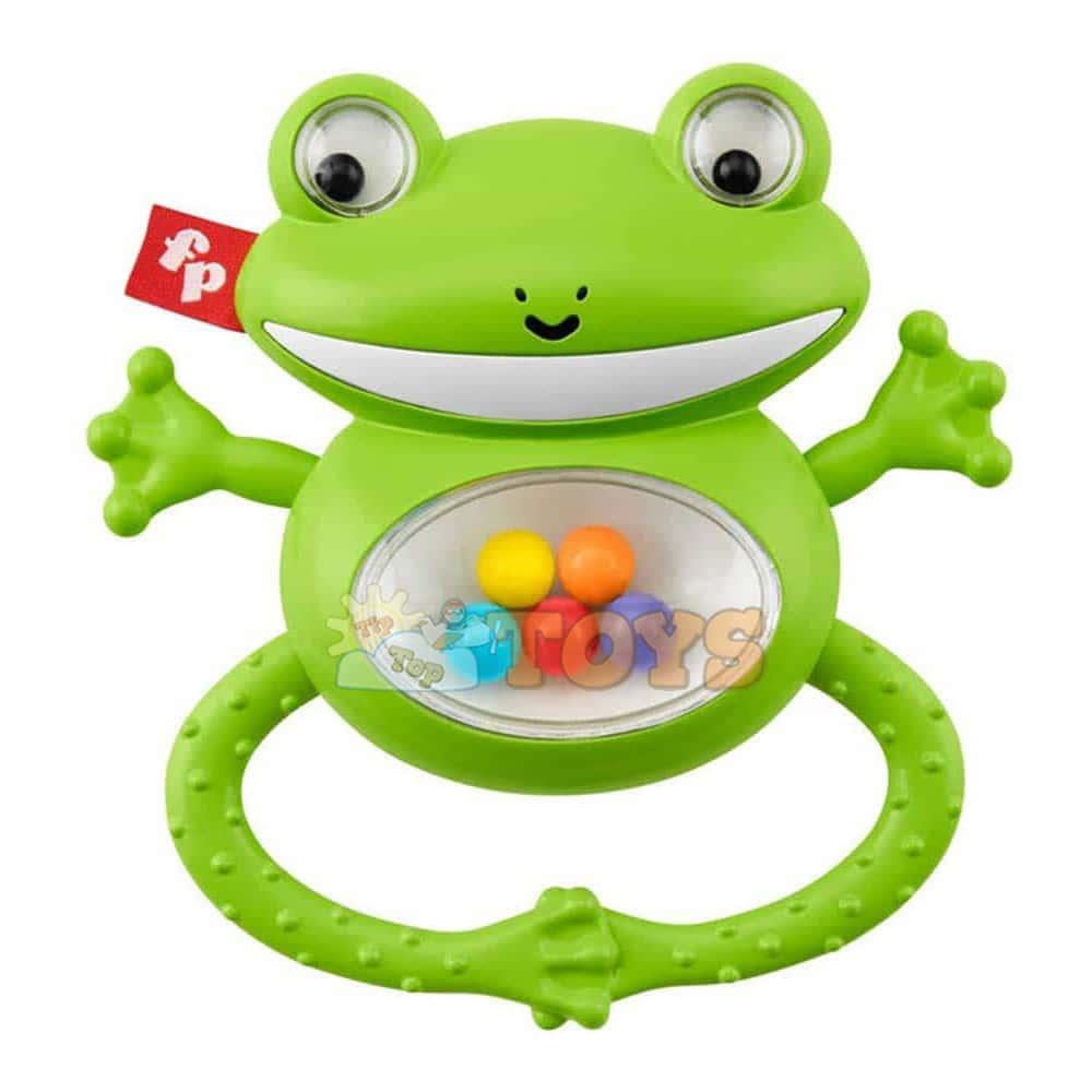 Fisher-Price Jucărie zornăitoare pentru copii Broască GGF03 - Mattel