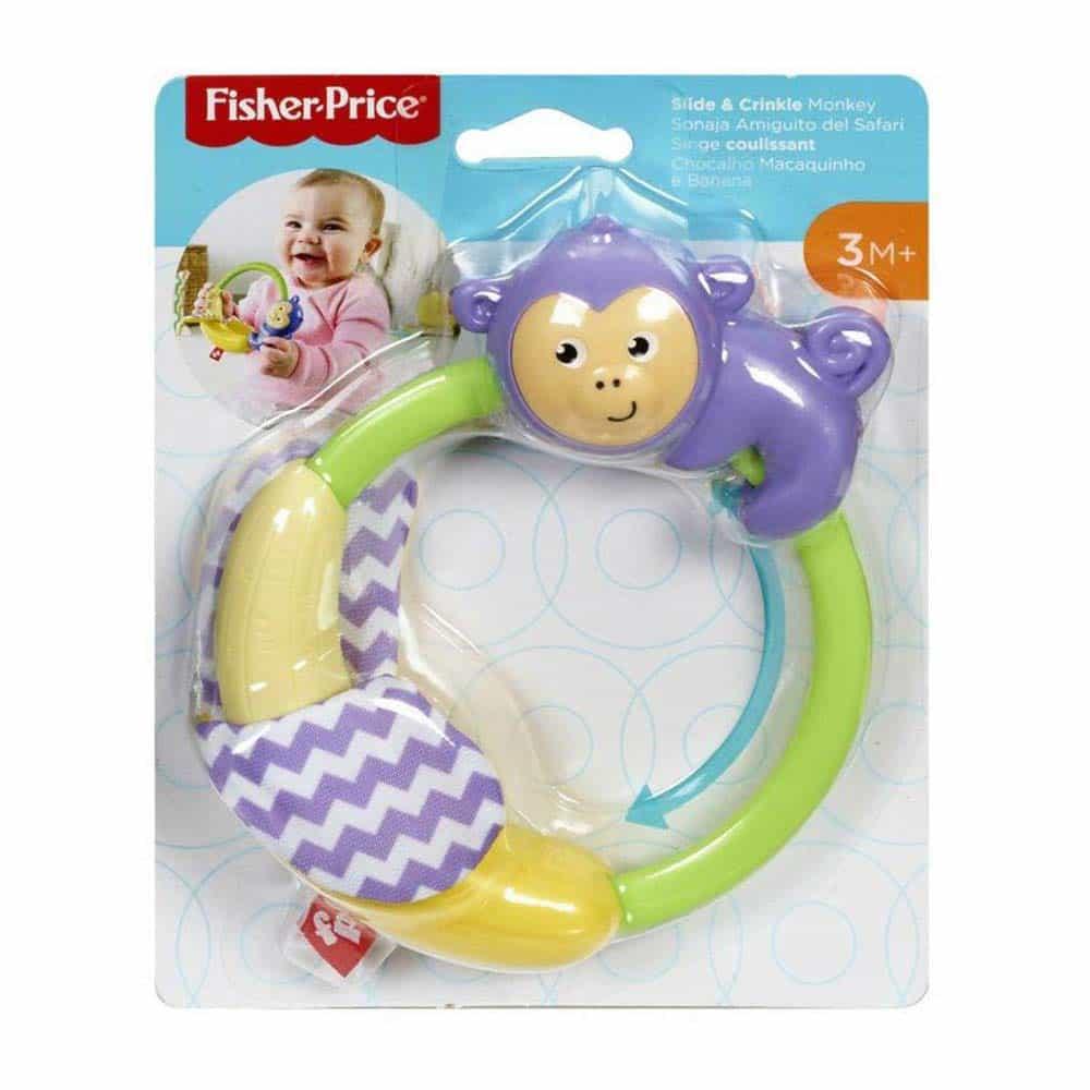 Fisher-Price Jucărie zornăitoare pentru copii Maimuță GGF06 - Mattel