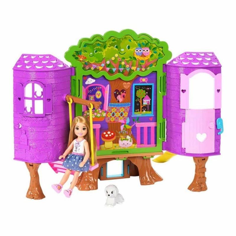 Set de joacă Păpușă Barbie Chelsea Căsuță din copac FPF83 Mattel