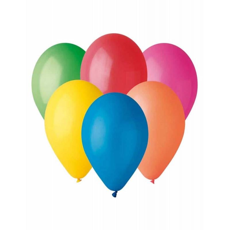Set baloane diverse culori 10buc - diametru baloane 26cm