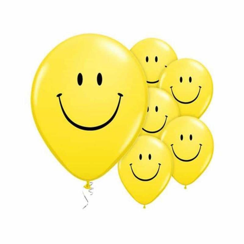 Set baloane inscripționate cu Emoji smiley pentru aniversări 10buc 26cm