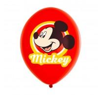 Set baloane inscripționate Mickey mouse pentru aniversări 6buc 28cm