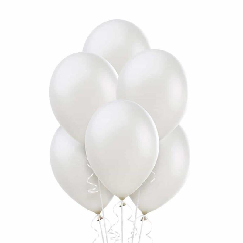 Set baloane de culoare albă set 50buc - diametru baloane 30cm