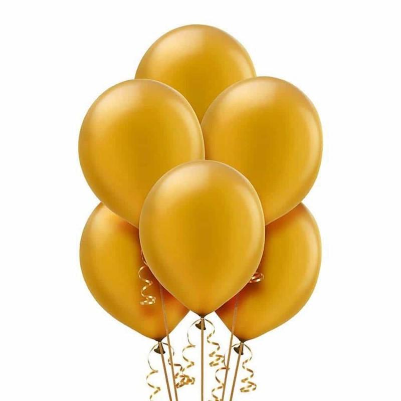 Set baloane de culoare auriu set 50buc - diametru baloane 30cm