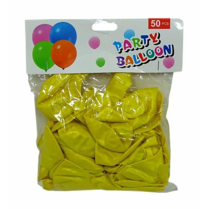 Set baloane de culoare galben set 50buc - diametru baloane 30cm
