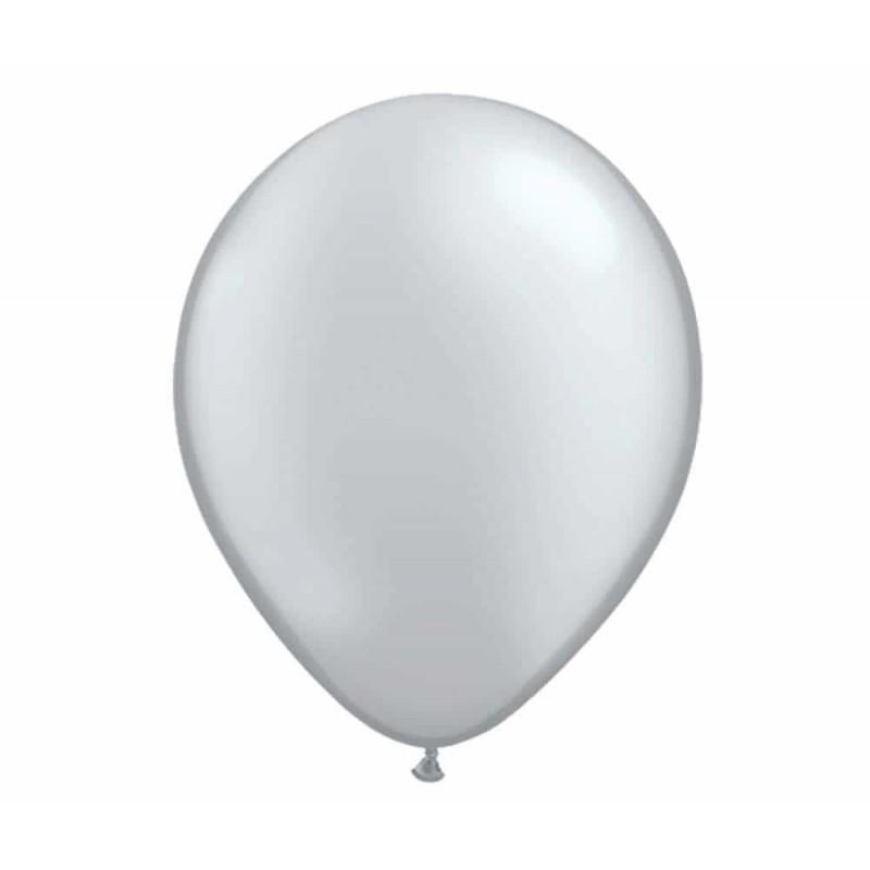Set baloane de culoare argintiu set 50buc - diametru baloane 30cm