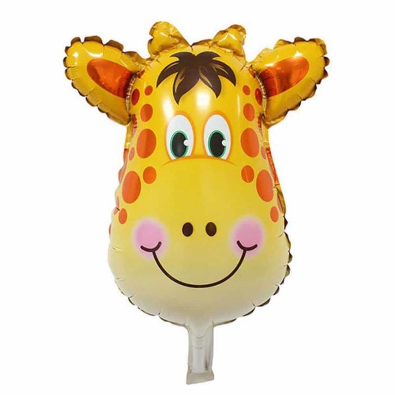 Balon folie figurină Girafă 78x88cm multicolor - balon folie heliu