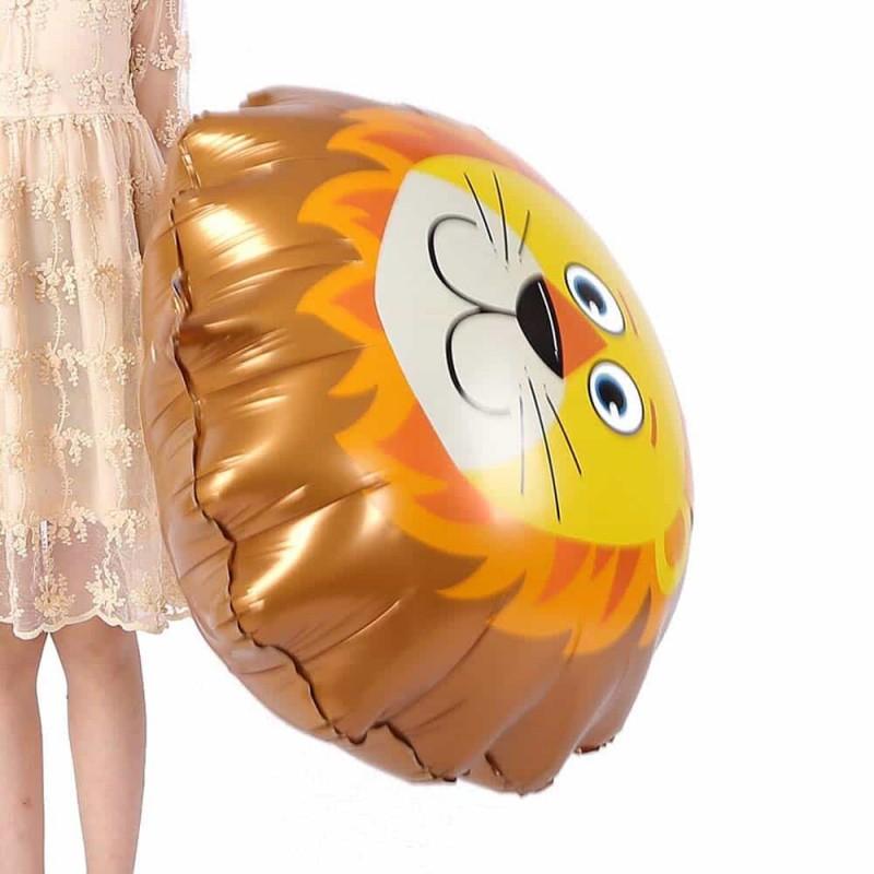 Balon folie figurină Leu 73x76cm multicolor - balon folie heliu