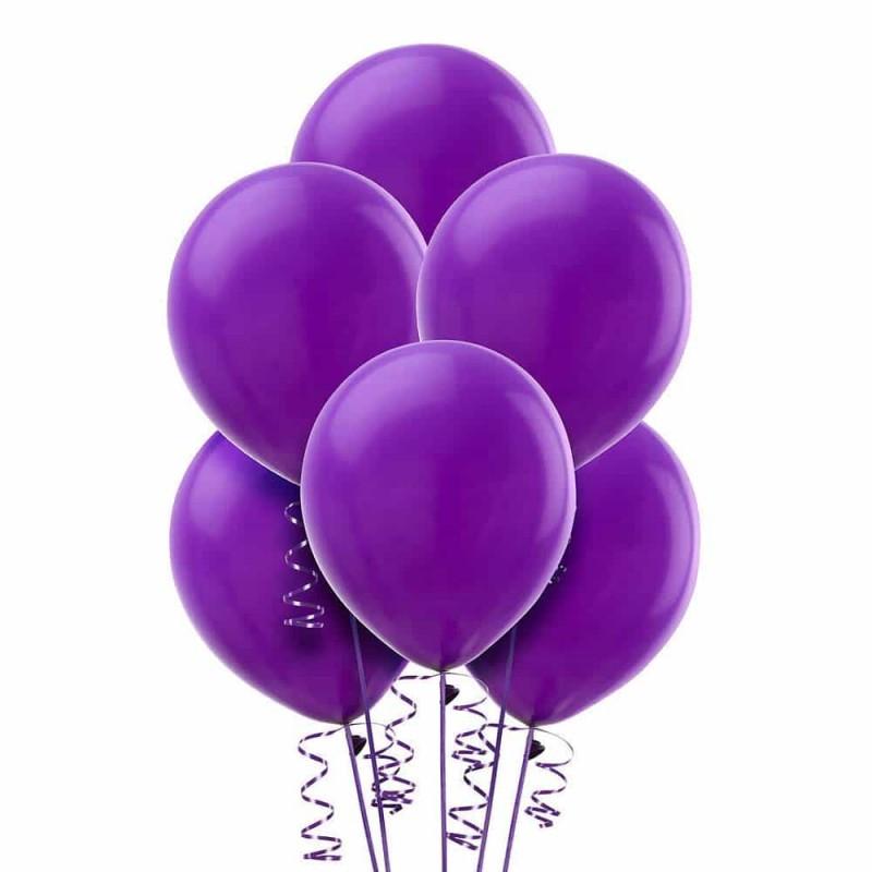 Set baloane de culoare mov set 12buc - diametru baloane 30cm