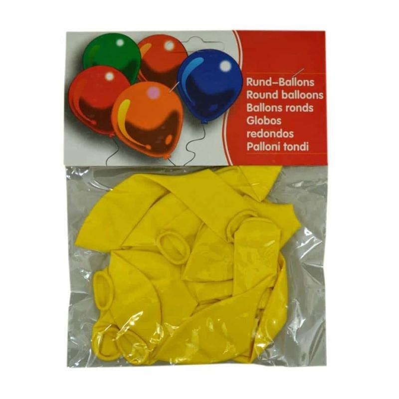 Set baloane de culoare galben set 12buc - diametru baloane 30cm