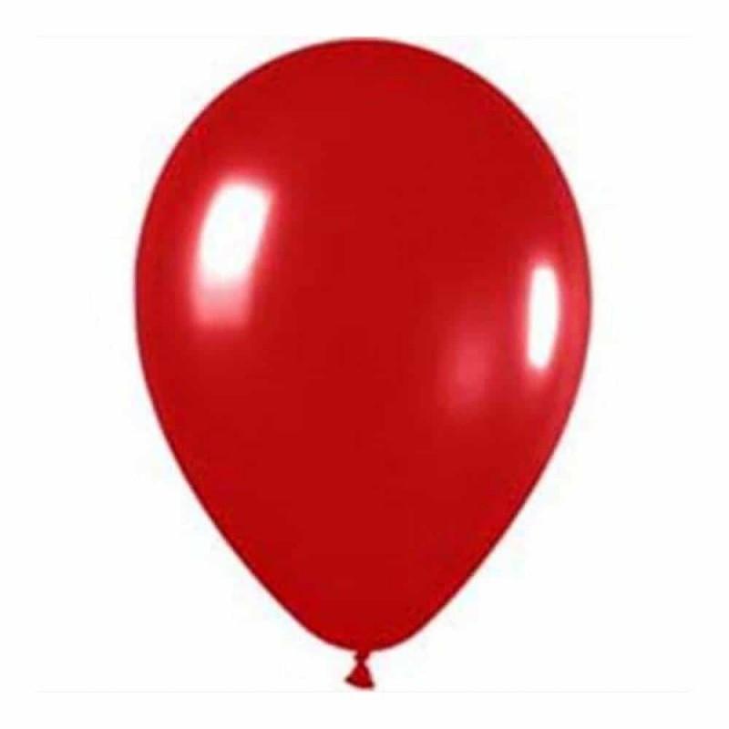 Set baloane de culoare roșu set 12buc - diametru baloane 30cm