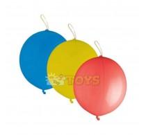 Set baloane latex mari Punch Ball asortate 3 buc - roșu, galben, albastru