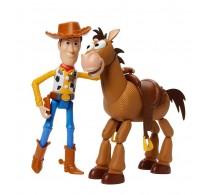 Set 2 figurine Toy Story 4 Woody și Bullseye GDB91 Disney - Mattel