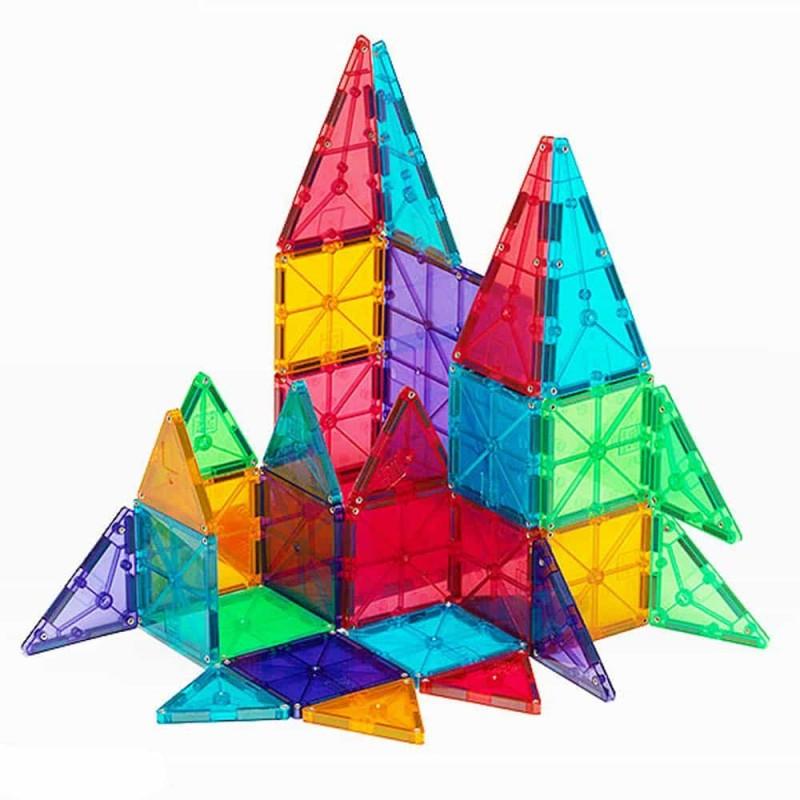 Magna-Tiles Clear Colors joc magnetic 32 piese - set magnetic 3D