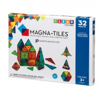Magna-Tiles Clear Colors joc magnetic 32 piese - set magnetic 3D