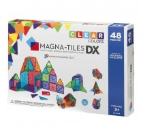 Magna-Tiles Clear Colors joc magnetic 48 piese - set magnetic 3D