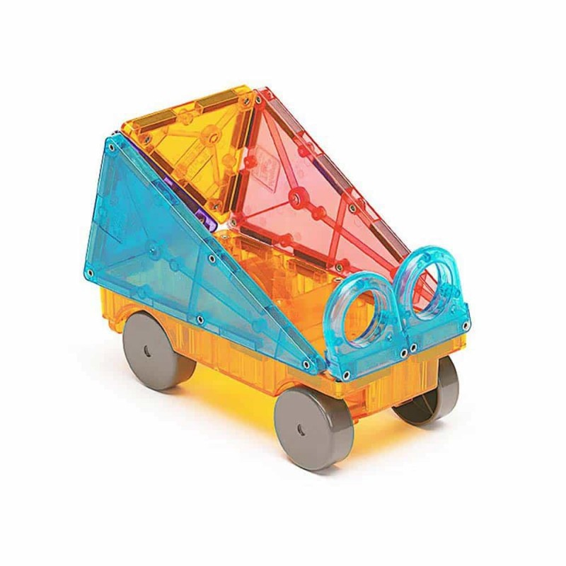 Magna-Tiles Clear Colors joc magnetic 48 piese - set magnetic 3D