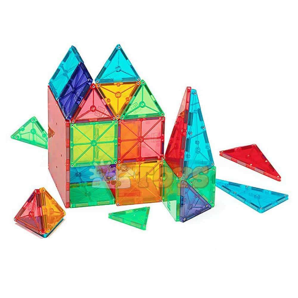 Magna-Tiles Clear Colors joc magnetic 100 piese - set magnetic 3D