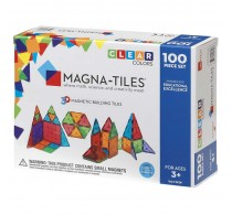 Magna-Tiles Clear Colors joc magnetic 100 piese - set magnetic 3D