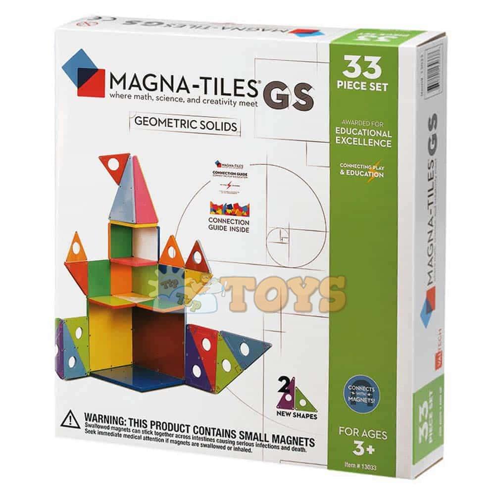 Magna-Tiles Geometrics Solids joc magnetic 33 piese - set magnetic 3D