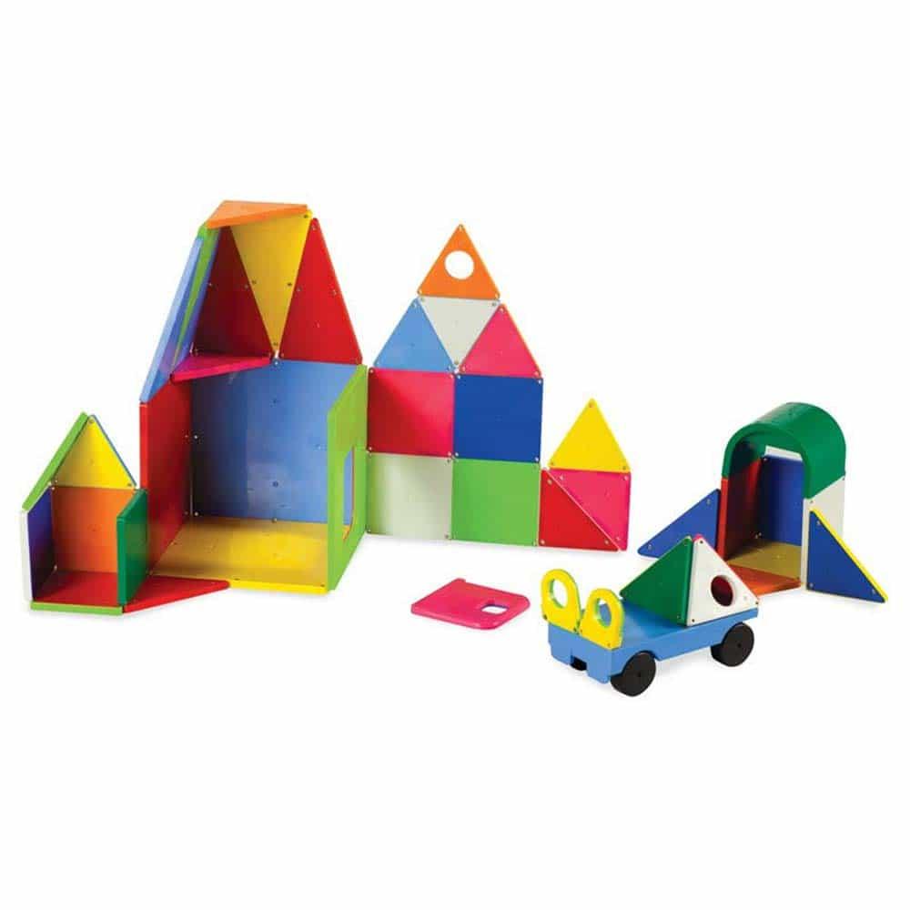 Magna-Tiles Solid Colors joc magnetic 48 piese - set magnetic 3D