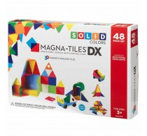 Magna-Tiles Solid Colors joc magnetic 48 piese - set magnetic 3D