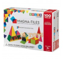 Magna-Tiles Solid Colors joc magnetic 100 piese - set magnetic 3D