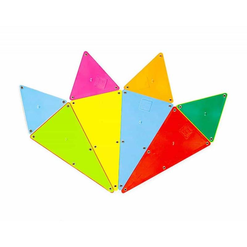 Magna-Tiles Solid Colors joc magnetic 100 piese - set magnetic 3D