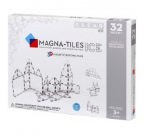 Magna-Tiles ICE Transparent joc magnetic 32 piese - set magnetic 3D