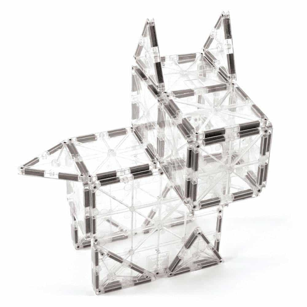 Magna-Tiles ICE Transparent joc magnetic 32 piese - set magnetic 3D